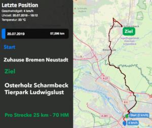 Strecke Ludwigslust